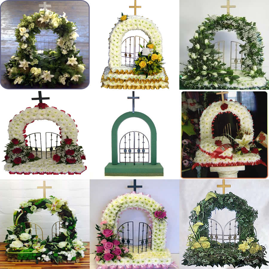 Floral tributes in sympathy by yorkshire florist fresh flowers gates of heaven bouquet of white tulips funeral izmirmasajfo