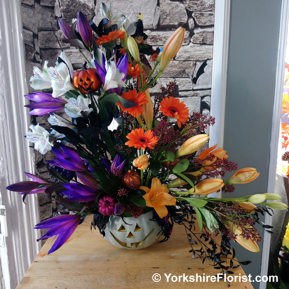 Yorkshire Florist Handmade Holly Wreaths Festive Florals Bouquets Candles And Baskets